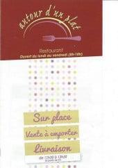 Menu Autour d'un plat - Carte et menu Autour d'un plat Cagnes sur Mer