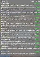 Menu Cagnes pizza - Cannibale, parme...