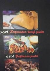 Menu Le Caliente - Empanadas, fajitas, bœufs,....