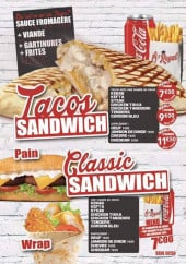 Menu Ô'Royal - Tacos et sandwiches