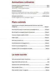 Menu Socc'Appétit - les plats,...