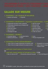 Menu Basilic & co - Salades