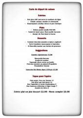 Menu Le Pont Chauzon - Entrées, plats, desserts,....