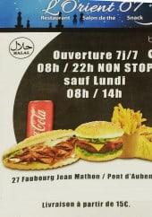 Menu L'orient 07 - Carte et menu L'orient 07 Aubenas