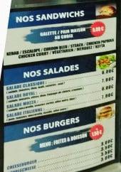 Menu L'orient 07 - Les sandwiches, salades et burgers