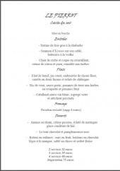 Menu Le Pierrot - La carte du soir