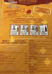 Menu Royal Tandoori - Les galettes indiennes, salades, beignets et tandoori