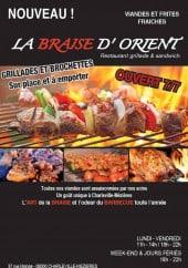 Menu La Braise D'Orient - Carte et menu La Braise D'Orient Charleville Mezieres