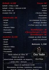 Menu Chez Vadim - Les menus