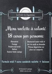 Menu La Fromagerie - Menu raclette à volonté