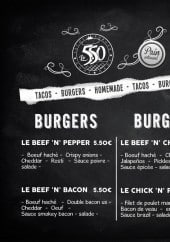 Menu Le 5.50 tacos burger - Burgers et menu enfant