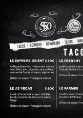 Menu Le 5.50 tacos burger - Les tacos