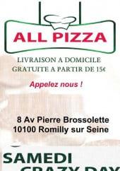 All Pizza à Romilly Sur Seine Carte Menu Et Photos