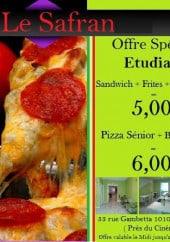 Menu Le Safran - L'offre pour les étudiants
