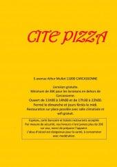 Menu Cité Pizza - Carte et menu City pizza Carcassonne