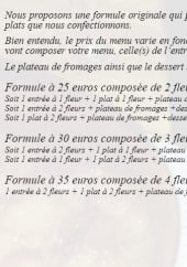 Menu Jardin de l'Estagnol - Explication des formules