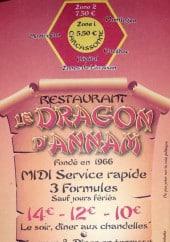 Menu Le Dragon d'Annam - Carte et menu Le Dragon d'Annam Carcassonne