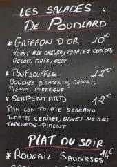 Menu Le Saint Louis - Les salades, plats du soir et dessert