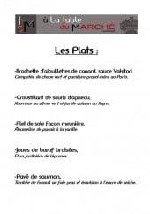 Menu A La Table Du Marché - Les plats