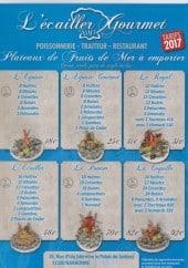 Menu L'Ecailler Gourmet - Plateaux fruits de mer à emporter