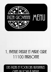 Menu Pizza Giovanni - Carte et menu Pizza Giovanni Narbonne
