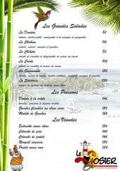 Menu Le Gosier - Les salades, poissons et viandes