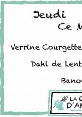 Menu La Cabane d'Arthur - Un exemple de menu du jour