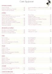Menu La Perle d'Orient - Les potages, les soupes,.....