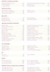 Menu La Perle d'Orient - Les crevettes, les coquilles saint jaques,.....