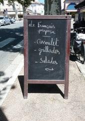 Menu Le Francais - Exemple de menu