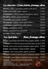 Menu Pizzeria de l'Ecluse - Les pizzas blanches et speciales