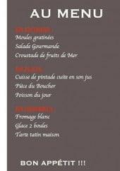 Menu Le Joffre - Les entrées, les plats et desserts