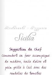 Menu Sicilia - carte et menu Sicilia Gruissan
