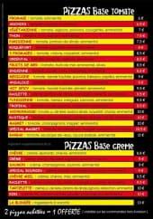 Menu Allo Pizza - Les pizzas