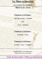 Menu La Renaissance - Formules