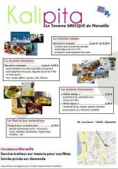 Menu Kalipita - Les assiettes, les plats du jour ...