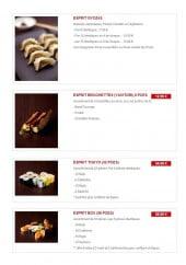 Menu Esprit Sushi - Les menus suite