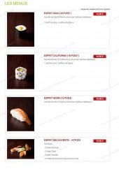 Menu Esprit Sushi - Les menus