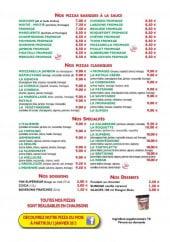 Menu Topolino pizza - les pizzas basiques a la sauce, les classiques, les spécialités, boisons et desserts