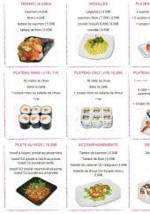 Menu L'instinct Nippon - Les temakis, moules, plateaux sushis...