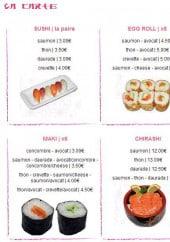 Menu L'instinct Nippon - Les sushis, egg roll, sashimis...