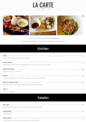 Menu Ubud - Entrées salades et soupes