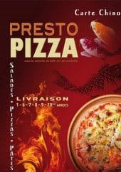Menu Presto pizza - carte et menu Presto Pizza Cash marseille