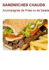 Menu Le Calice - Les sandwiches chauds