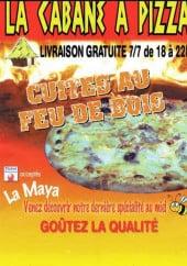 Menu La Cabane à Pizza - carte et menu La Cabana a pizza