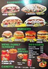 Menu Le club chicken's - Les sandwiches, desserts et menus
