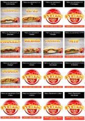 Menu Le System - Les menus ou sandwiches: commando, curry ...