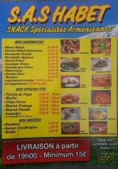 Menu Chez Habet - Les spécialités