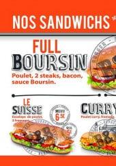 Menu B&b burger - Les sandwiches