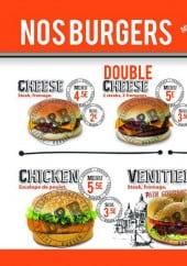 Menu B&b burger - Les burgers